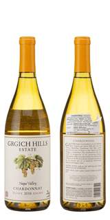 Picture of *CHARDONNAY GRGIĆ 0.75L GRGICH HILLS ZP SUHO 2016 -12/1-